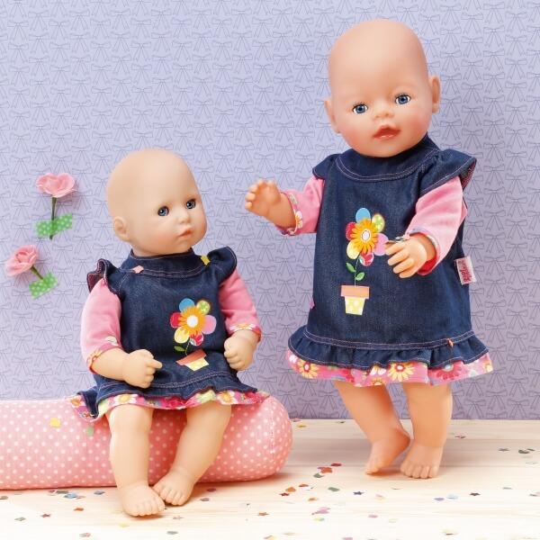 Größe 30-36cm Kleidung & Accessoires Zapf BABY born® Kleider Kollektion Dolly Moda Jeanskleid