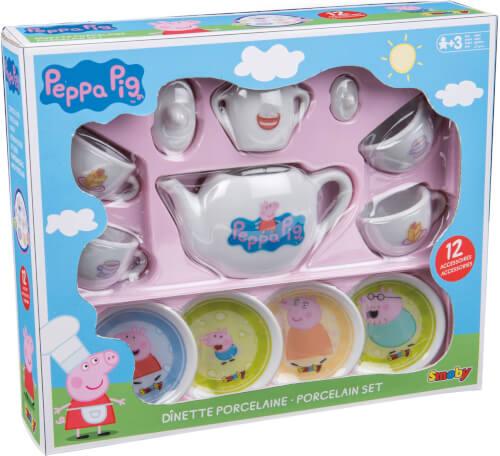 Smoby PEPPA PIG Porzellan-Kaffee-Geschirrset