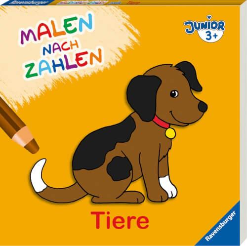 Ravensburger 55780 Taschenbuch Malen Nach Zahlen Junior Tiere