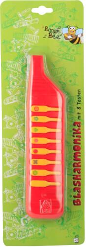 Boogie Bee Blasharmonika 8 Tasten, Kinderinstrument, Packmaß ca. 39,5x13,5x28 cm, ab 3 Jahren
