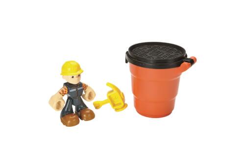 Mattel Bob der Baumeister Sandspaß Bob Figur (mit Spielsand)