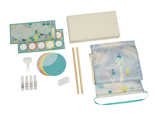 Baby Art One to Tree Measuring Chart Stoffmesslatte mit Holzbox