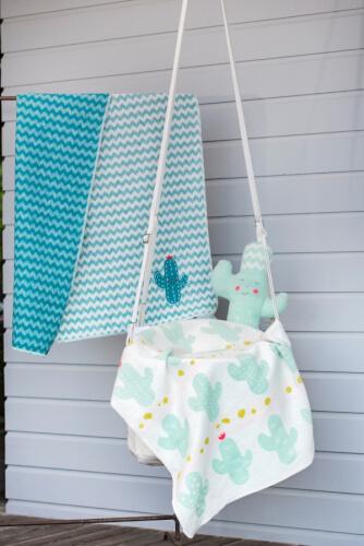 Baby und Kinderdecke Juwel, Kakteen, 70 x 90 cm