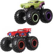 Mattel FYJ64 Hot Wheels Monster Trucks 1:64 Die-Cast 2er-Pack sortiert