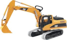 Bruder 02438 CAT Schaufelbagger, ab 4-8 Jahren, Maße: 61 x 22 x 30,5 cm, Kunststoff