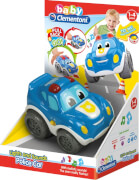 Clementoni Baby - Polizeiauto Lights und Sounds, Kunststoff, ab 12 Monate