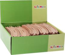 SpielMaus Holz Kurven, 17 cm