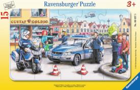 Ravensburger 06037 Rahmenpuzzle Einsatz der Polizei 15 Teile