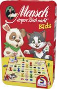 Schmidt Spiele 51273 Mensch Ärgere Dich Nicht, Kids-Edition, Mitbrinspiel in der Metalldose, 2 bis 4 Spieler, ab 4 Jahre