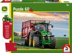 Schmidt Puzzle 56043 John Deere, 8370R Traktor, 60 Teile, ab 5 Jahre