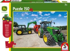 Schmidt Puzzle 56045 John Deere, Traktoren der 5M Serie, 150 Teile, ab 7 Jahre