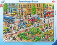 Ravensburger 06172 Rahmenpuzzle Unterwegs in der Stadt 30 Teile