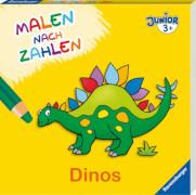 Ravensburger Malen nach Zahlen junior: Dinos - F18 Malbuch