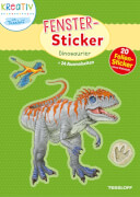 Fenster-Sticker Dinosaurier, Stickerbuch, 24 Seiten, ab 5 Jahren