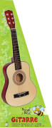 Boogie Bee Gitarre aus Holz, 6 Saiten, ca. 75 cm, Kinderinstrument,ab 5 Jahre