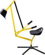 Outdoor active Metall Schaufelbagger, gelb und schwarz, Outdoorspielzeug, ca. 115x31x85 cm, ab 3 Jahren