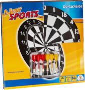 New Sports Kork Dartboard inklusive 6 Pfeilen