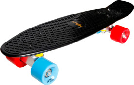 New Sports Kickboard, schwarz blau/orange, ABEC 7