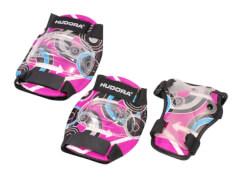 Hudora 83344 - Protektoren-Set Pink Style, pink, Größe M