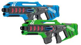 JAMARA 410084 Impulse Laser Gun  Rifle Set blau/grün