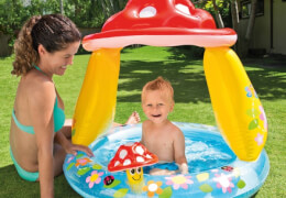 Baby Pool Pilz, ca. #102x89cm