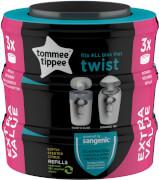 Tommee Tippee Nachfüllkassetten für Twist & Click und Sangenic Tec Windeleimer, 3er Set